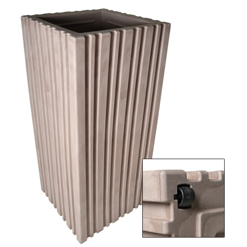 pflanzentopf blumenk bel xxl mit rollen 35x35x80cm blumentopf pflanzk bel neu ebay. Black Bedroom Furniture Sets. Home Design Ideas