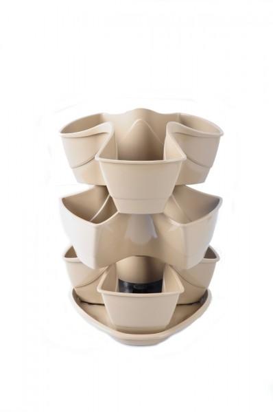 kr uterampel coubi anthrazit beige blumentopf pflanzgef. Black Bedroom Furniture Sets. Home Design Ideas