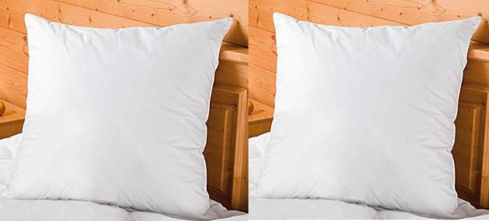 home 2er set kopfkissen 80x80 cm mikrofaser kissen nackenkissen bett bettzeug ebay. Black Bedroom Furniture Sets. Home Design Ideas
