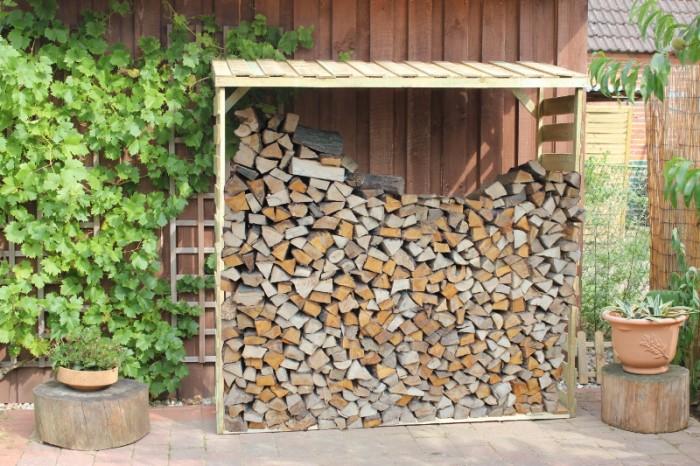 kaminholzunterstand kaminholzregal brennholzregal mit dach holzregal brennholz ebay. Black Bedroom Furniture Sets. Home Design Ideas