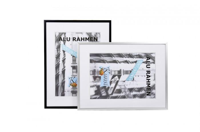 aluminium bilderrahmen 21x29 7 30x40 40x50 50x70 bilderhalter bild foto rahmen ebay. Black Bedroom Furniture Sets. Home Design Ideas