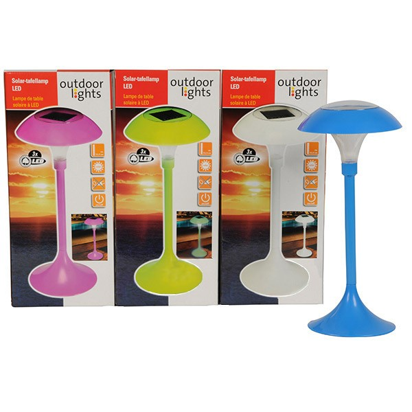 led solartischlampe solar garten tischlampe lampe gartentischlampe gartenlampe ebay. Black Bedroom Furniture Sets. Home Design Ideas