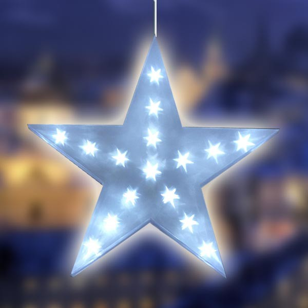3d led stern weihnachtsstern dekostern weihnachten fensterdeko beleuchtung neu ebay - Led fensterdeko weihnachten ...