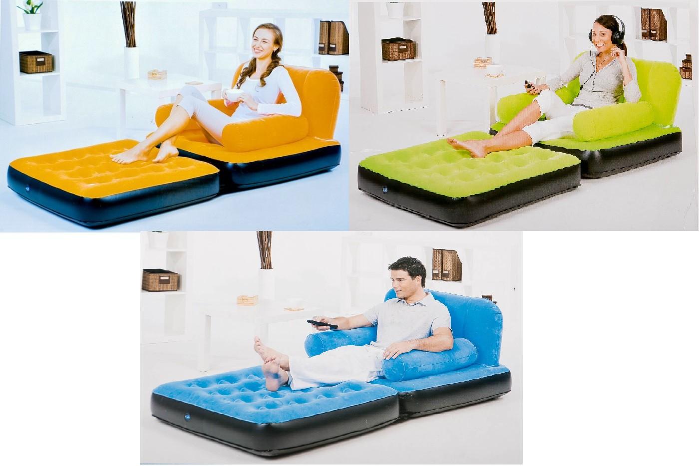 g stebett sessel diverse farben campingbett sofa aufblasbares bett luftsessel ebay. Black Bedroom Furniture Sets. Home Design Ideas