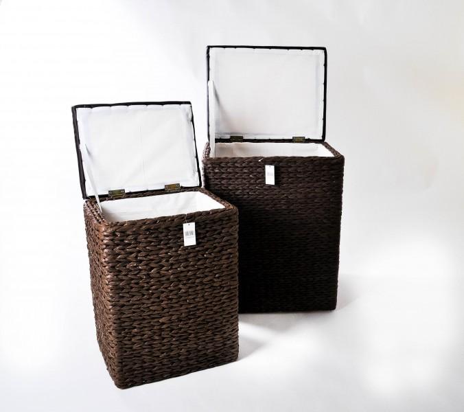 2tlg set w schebox mit deckel braun polyrattan w schekorb w schetruhe w sche neu ebay. Black Bedroom Furniture Sets. Home Design Ideas