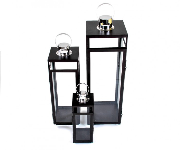 metall laterne 3er set schwarz windlicht gartenlaterne gartenlampe glaslaterne ebay. Black Bedroom Furniture Sets. Home Design Ideas