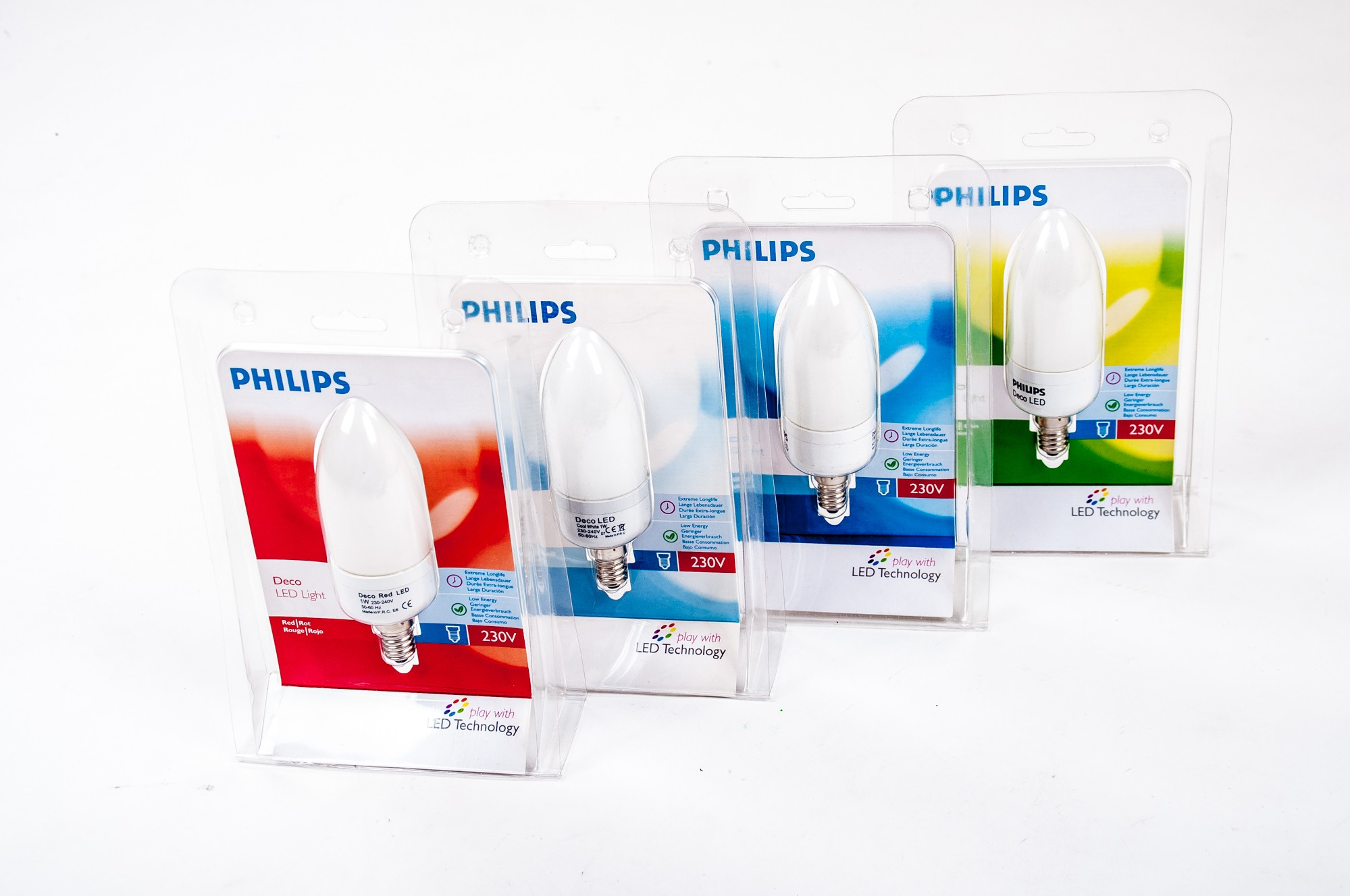 Philips-Deco-LED-Light-E14-Kerze-1W-Lichterkette-Lampe-Energiesparlampe-Leuchte