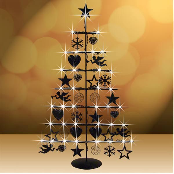 led weihnachtsbaum aus metall christbaum tischdeko. Black Bedroom Furniture Sets. Home Design Ideas