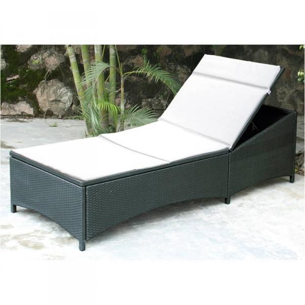 poly rattan liege anthrazit relaxliege sonnenliege gartenliege strandliege neu ebay. Black Bedroom Furniture Sets. Home Design Ideas