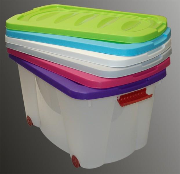 spielzeug rollenbox mit griffen deckel rollbox box. Black Bedroom Furniture Sets. Home Design Ideas