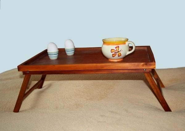 betttablett pinienholz gebeizt 50x30x22 cm tablett bett fr hst ckstablett neu ebay. Black Bedroom Furniture Sets. Home Design Ideas