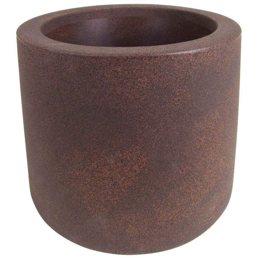 blumenk bel mit rollen rund 39 cm pflanzk bel blumentopf pflanztopf pflanzgef ebay. Black Bedroom Furniture Sets. Home Design Ideas