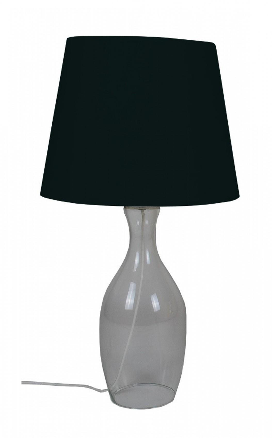 Tischlampe Mit Glasfuss 63 Cm Tischleuchte Wohnzimmerlampe Lampe