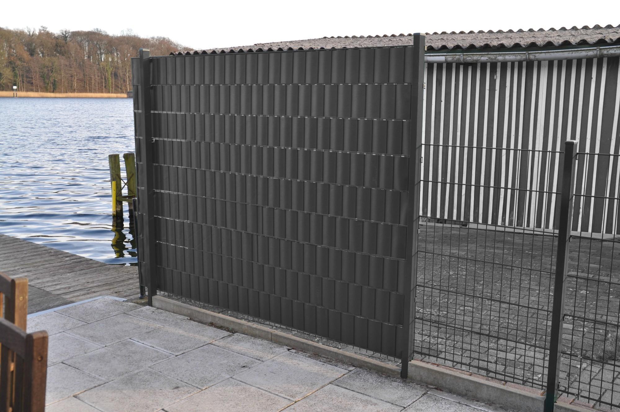 21m pvc sichtschutzzaun sichtschutzstreifen windschutz. Black Bedroom Furniture Sets. Home Design Ideas