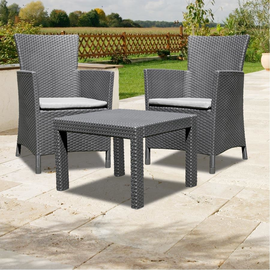 allibert balkon sitzgruppe utah graphit balkonm bel rattanm bel gartenm bel neu garten m bel. Black Bedroom Furniture Sets. Home Design Ideas