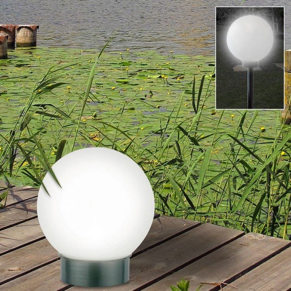 lampe gartenleuchte lampe leuchte led solar kugelleuchte kugel licht gartenlicht ebay. Black Bedroom Furniture Sets. Home Design Ideas