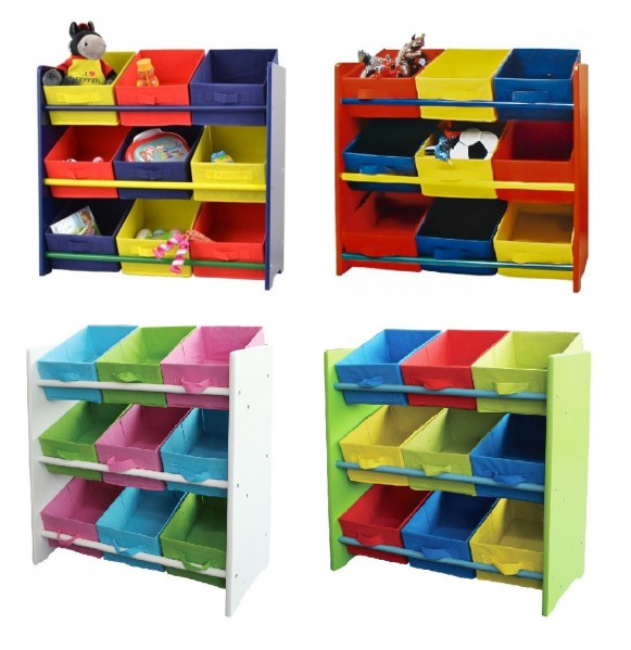 scaffale bambini mobili supporto spielzeugbox vivaio mensola ebay. Black Bedroom Furniture Sets. Home Design Ideas
