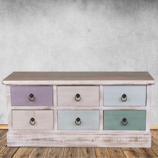 Vintage buffet shabby chic mdf tiroirs commode multi usages armoire en bois - Acheteur de meubles usages ...