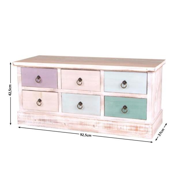 Rachat De Meuble En Bois - Vintage Buffet Shabby Chic MDF Tiroirs Commode multi usages Armoire en bois eBay