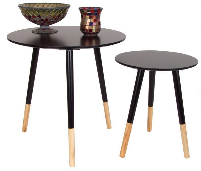 beistelltische 2er set holztisch couchtisch dekotisch. Black Bedroom Furniture Sets. Home Design Ideas