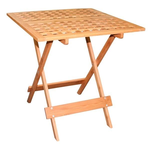 Bambou table pliante de jardin balcon chevet en bois ebay - Table de chevet en bambou ...