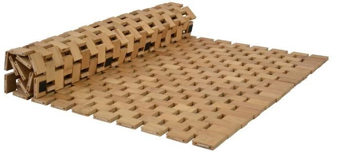 Opaco Tappeto Bambù Tappetino Bagno Stuoia In Legno Da Doccia  eBay