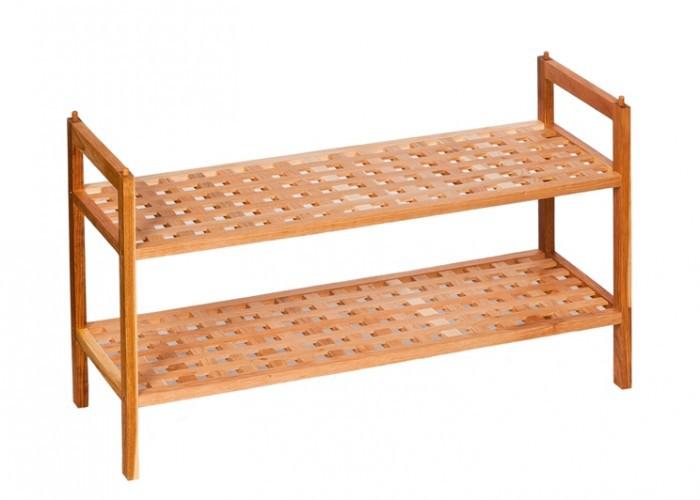 2x schuhregal schuhbank regal walnuss stapelbar. Black Bedroom Furniture Sets. Home Design Ideas