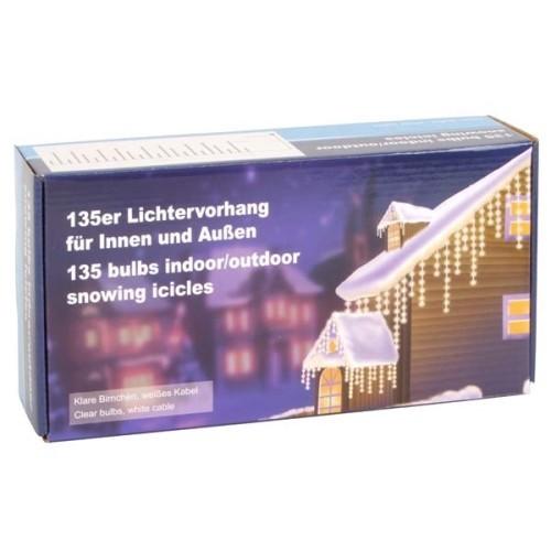 135er lichtervorhang weihnachten au enbeleuchtung. Black Bedroom Furniture Sets. Home Design Ideas
