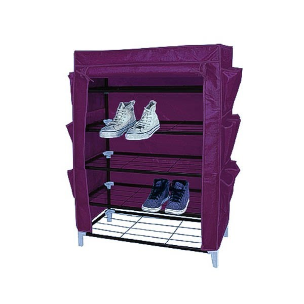 stoff schuhschrank purple schuhst nder schuhregal f r 15. Black Bedroom Furniture Sets. Home Design Ideas