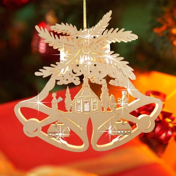 Led weihnachtsglocke weihnachtsdeko glocke fensterdeko for Led fensterdeko weihnachten
