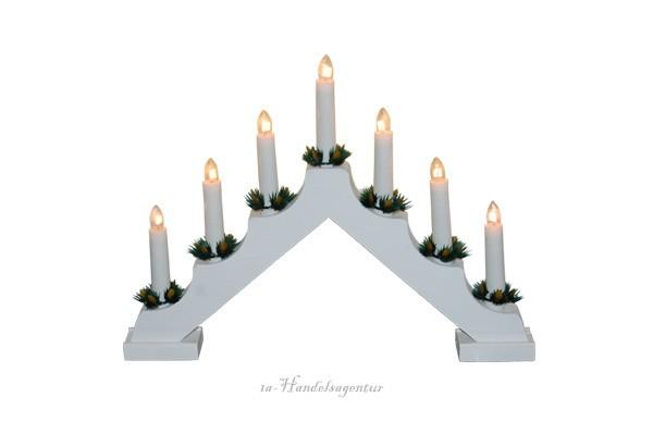 Led Schwedenleuchter Holz Advents Lichterbogen