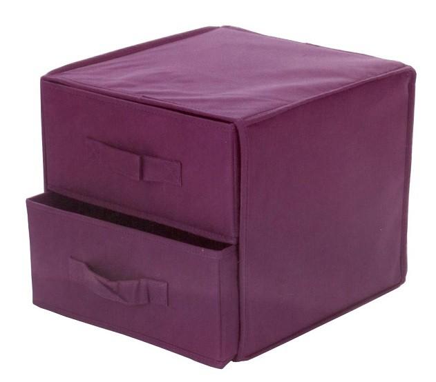 stoffaufbewahrungsbox 2 schubladen aufbewahrung box stoffbox stoffschrank stoff ebay. Black Bedroom Furniture Sets. Home Design Ideas