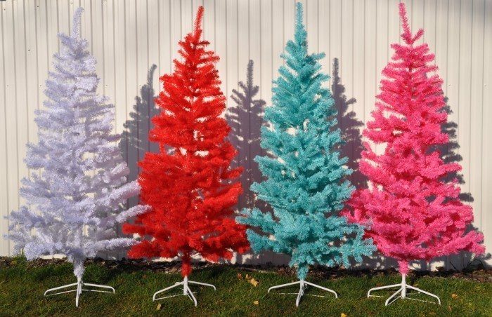 b ware k nstlicher weihnachtsbaum wei blau rot pink. Black Bedroom Furniture Sets. Home Design Ideas