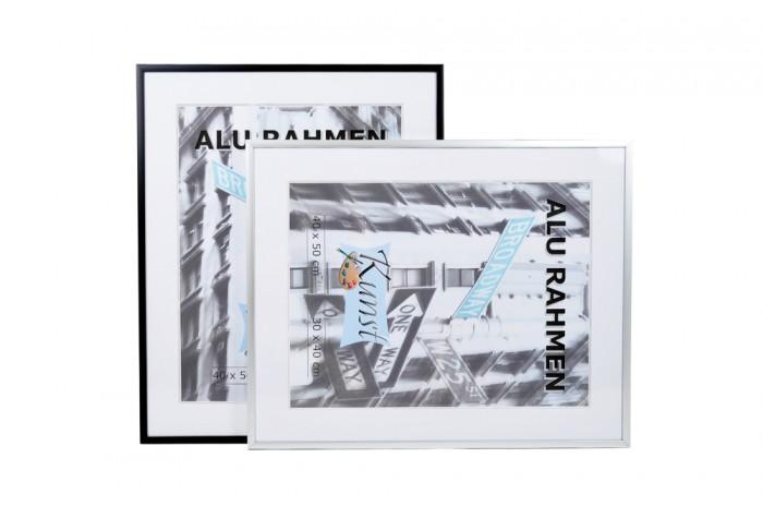 alu bilderrahmen verschiedene gr en schwarz silber fotorahmen bilder rahmen neu ebay. Black Bedroom Furniture Sets. Home Design Ideas