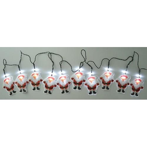 weihnachten solar led lichterkette weihnachtsmann schneemann au enbeleuchtung ebay. Black Bedroom Furniture Sets. Home Design Ideas