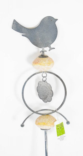 metall gartenstecker mit steinen verschiedene designs gartenfigur gartendeko neu ebay. Black Bedroom Furniture Sets. Home Design Ideas