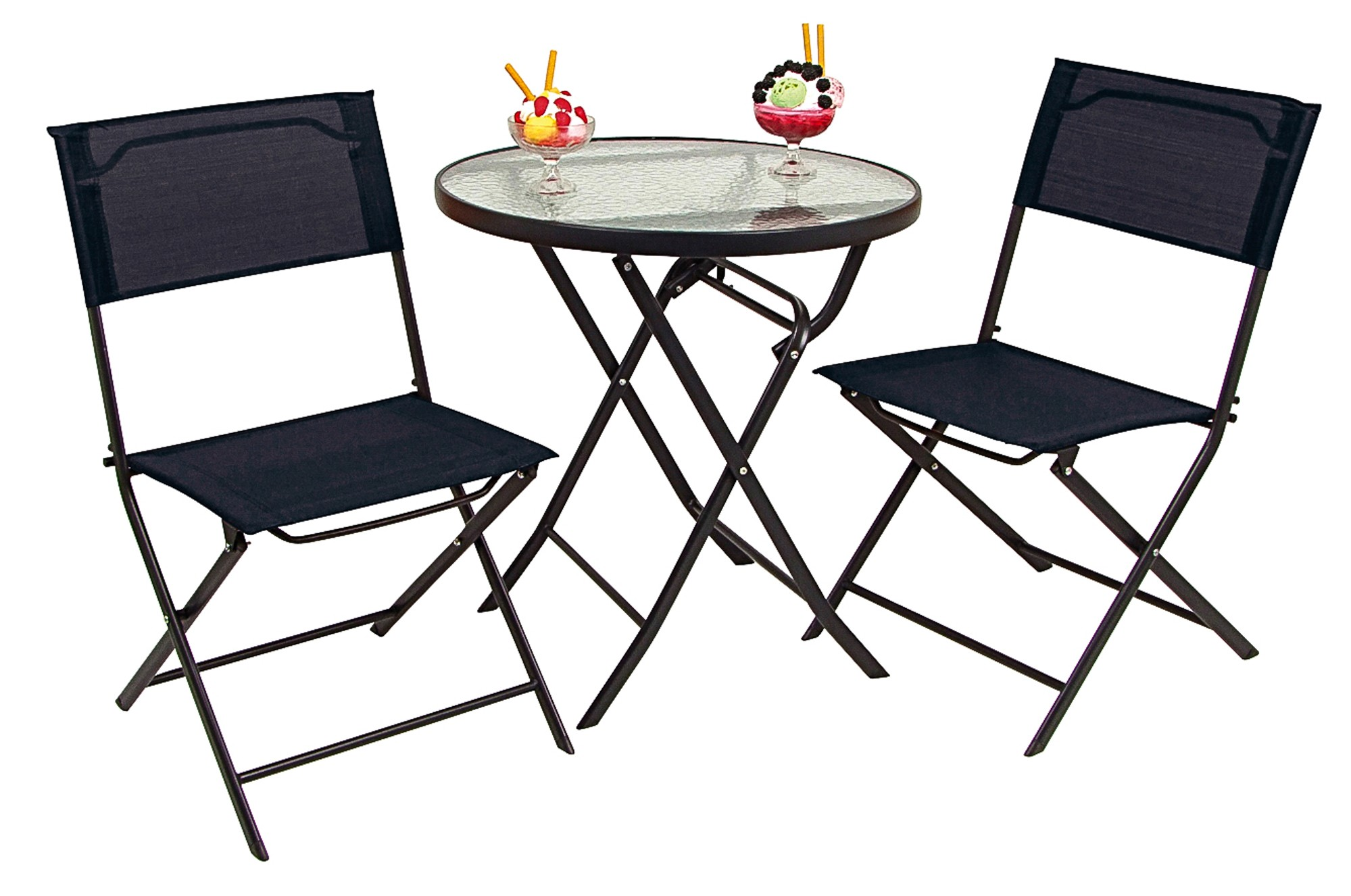 bistro set 3tlg balkonset bistroset sitzgruppe tischgruppe balkon tisch st hle ebay. Black Bedroom Furniture Sets. Home Design Ideas
