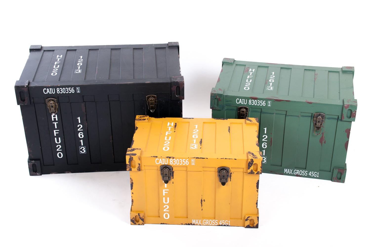 Kommode 3 tlg. Container Design Aufbewahrungskiste ...
